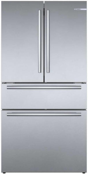 "Bosch 800 Series 36"" Counter Depth French Door Refrigerator B36CL80SNS Excellent"