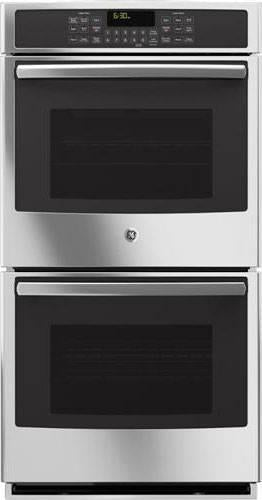 "GE Profile 27"" 4.3 cu.ft True Convection Double Electric Wall Oven PK7500SFSS"