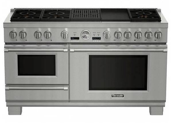 NIB Thermador Pro Grand 60'' 6 Sealed Star Burners Dual Fuel Range PRD606RCSG - Alabama Appliance