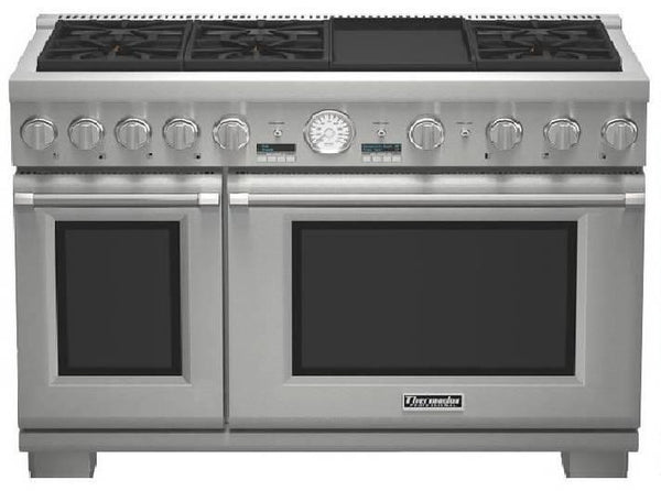 Thermador 48'' 6 Sealed Burners Pro-Style SS Dual-Fuel Range PRD486JDGU - Alabama Appliance