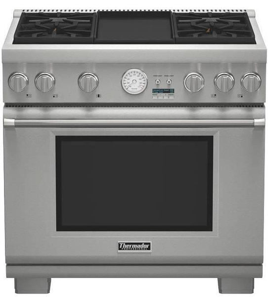 NIB Thermador Pro Grand Professional 36'' Pro-Style SS Gas Range PRG364JDG - Alabama Appliance