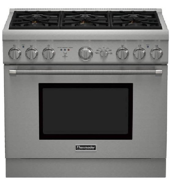 NIB Thermador Pro Harmony Professional 36'' Pro-Style Dual Fuel Range PRD366GHU - Alabama Appliance