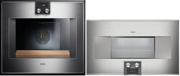 "Gaggenau 400 Series 2 30"" Single Convect Electric Wall Ovens BS464610 / BO480611 - Alabama Appliance"