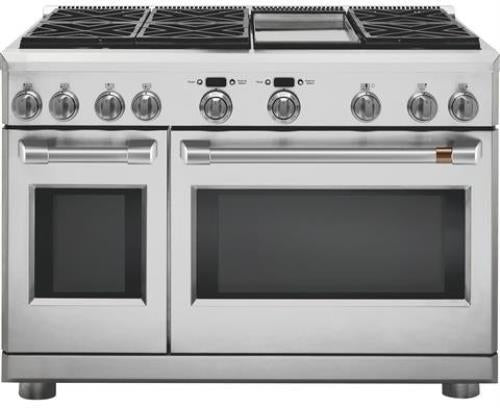 NIB GE Cafe C2Y486P2MS1 48 Inch Freestanding Duel Fuel Professional Range - Alabama Appliance