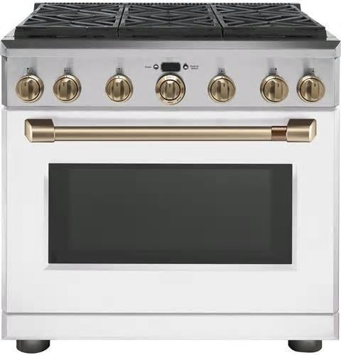 NIB GE Cafe CGY366P4MW2 36 Inches Freestanding Professional Convection Gas Range - Alabama Appliance