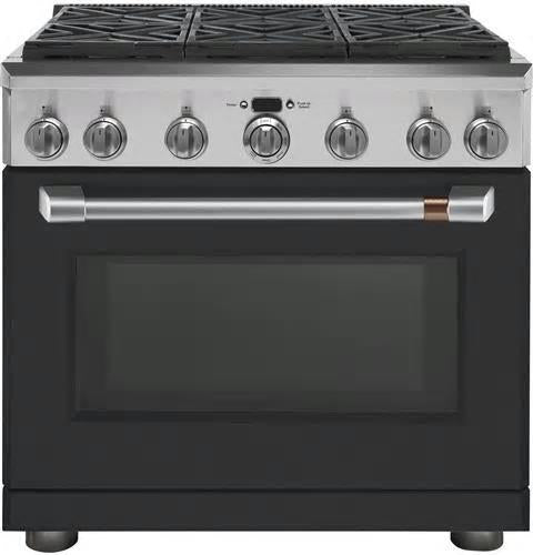 "NIB GE Cafe CGY366P3MD1 36"" Freestanding Professional Convection Gas Range"