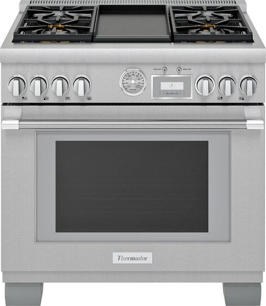 Thermador PRG364WDG 36 Inch Smart Freestanding Gas Range with Integrated Grill - Alabama Appliance