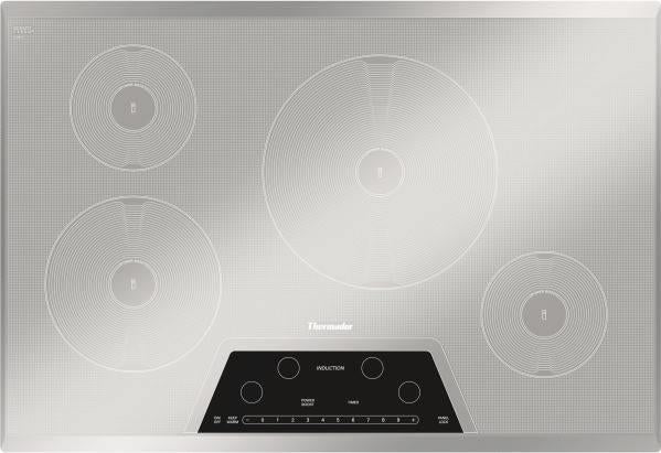 "NIB Thermador Masterpiece 30"" Induction Silver Mirrored Cooktop CIT304KM - Alabama Appliance"