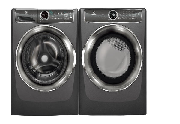 "Electrolux 27"" Front Load Titanium Steam Washer & Dryer EFLS627UTT & EFME627UTT - Alabama Appliance"