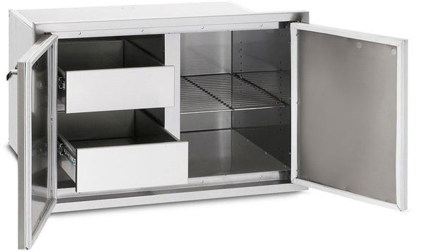 LYNX LPA36 36 Inch Sealed Pantry with Magnetic Gasket Seal, Illuminated Drawers - Alabama Appliance