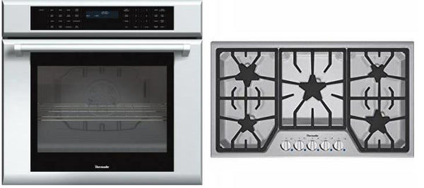 Thermador Masterpiece Series SS Oven + 5 Burner Cooktop Set SGS305FS / MED301JP - Alabama Appliance
