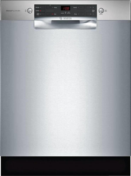 "Bosch 300 Series 24"" 46 dBA AquaStop Plus Full Console Dishwasher SGE53X55UC - Alabama Appliance"