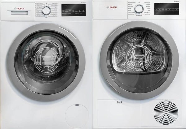 Bosch 500 Series Front Load 15 Progams Washer + Dryer WAT28401UC / WTG86401UC - Alabama Appliance
