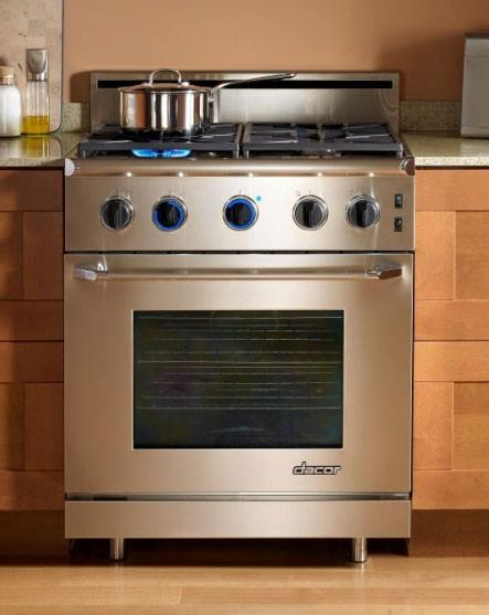 "Dacor Renaissance 30"" 4 Sealed Burners Pro-Style Gas Range ER30GSCHNG Stainless - Alabama Appliance"
