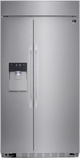 "NIB LG Studio 42"" SS 25.6 cu. ft. Built-in Side by Side Refrigerator LSSB2692ST - Alabama Appliance"