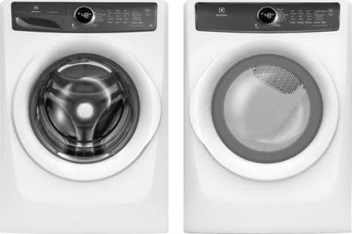 "Electrolux EFLW427UIW / EFMG417SIW 27"" White Front Load Washer & Gas Dryer Set"