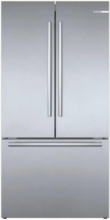 "Bosch 800 Series 36"" Stainless 21 cu.ft. French Door Refrigerator B36CT80SNS - Alabama Appliance"