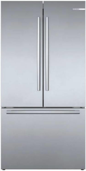 "Bosch 800 Series 36"" 21 cu.ft. SS Wifi Smart French Door Refrigerator B36CT80SNS - Alabama Appliance"