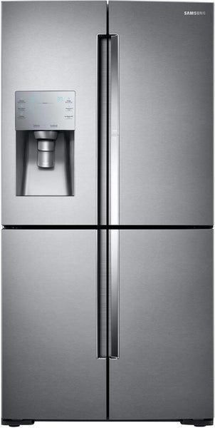 "Samsung 36"" FlexZone Compartment 4-Door French Door Refrigerator RF28K9380SR - Alabama Appliance"