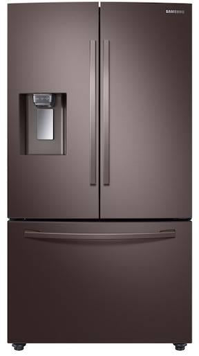 "Samsung 36"" 3-Door French Door Smart Tuscan Stainless Refrigerator RF28R6201DT"