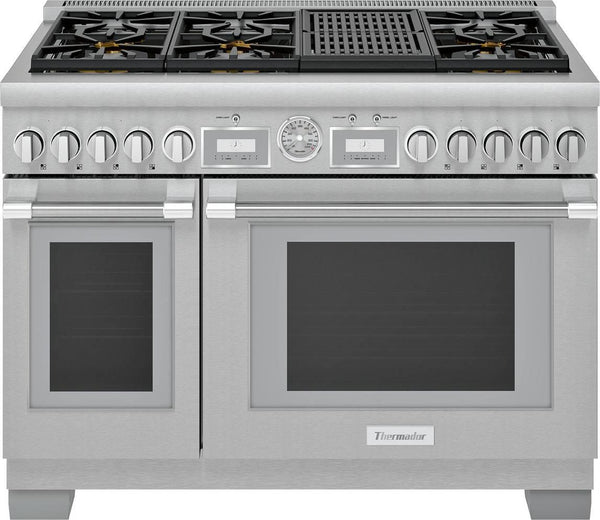 "Thermador Pro Grand 48"" 6 Burner Smart Commercial Depth SS Gas Range PRG486WLG - Alabama Appliance"