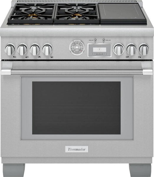 "Thermador Pro Grand Professional 36"" Freestanding Dual-Fuel Range PRD364WIGU - Alabama Appliance"