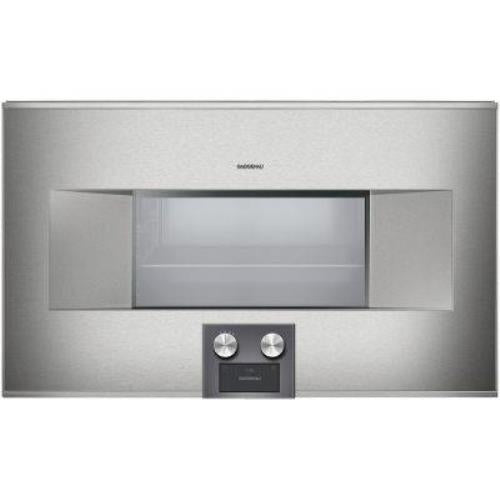 "Gaggenau 400 Series 30"" Self-Clean 1.7 c.ft Convection Combi-Steam Oven BS484611 - Alabama Appliance"