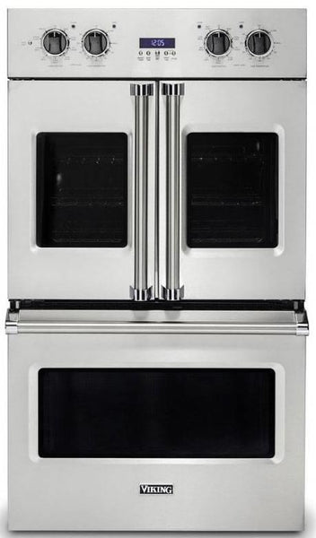 "Viking Professional 7 Series 30"" SS Top French-Door Double Oven VDOF7301SS - Alabama Appliance"
