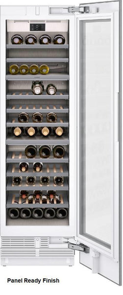 "Gaggenau 400 Series 24"" CP Three Temp Zone Fully Integrated Wine Cellar RW466764"