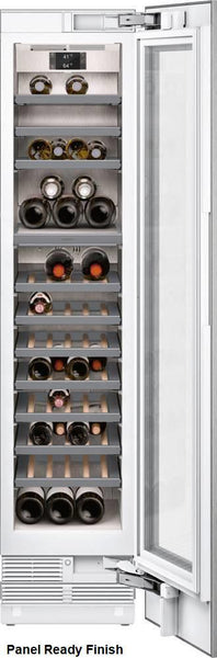 "Gaggenau 18"" PR Two Temp Zones Fully Integrated Wine Climate Cabinet RW414764"