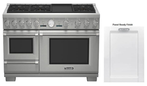 NIB Thermador Dual-Fuel Range + Sapphire Dishwasher PRD48JDSGU / DWHD650JPR - Alabama Appliance