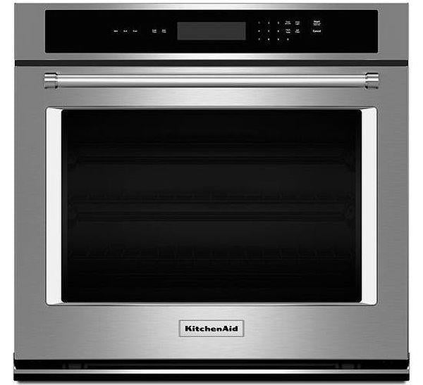 KitchenAid KOST107ESS 27 Inches Stainless Steel Single Wall Oven - Alabama Appliance