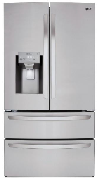 "LG LMXS28626S 36"" 4Door French Door Refrigerator 27.8 cu.ft Capacity Pictures - Alabama Appliance"