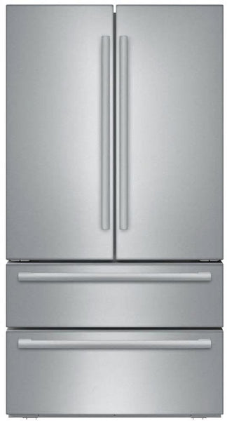 "Bosch 800 Series 36"" 4-Door French Door Refrigerator B21CL81SNS Good front"