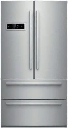 "Bosch 800 series 36"" 4 Stainless Door French Door Refrigerator B21CL80SNS Images"