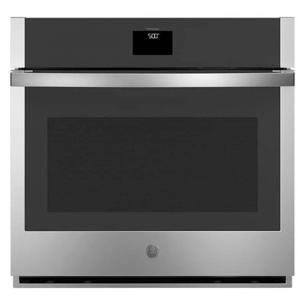 "GE 30"" 5.0 Cu. Ft Built-In Single Electric SS Convection Wall Oven JTS5000SNSS - Alabama Appliance"