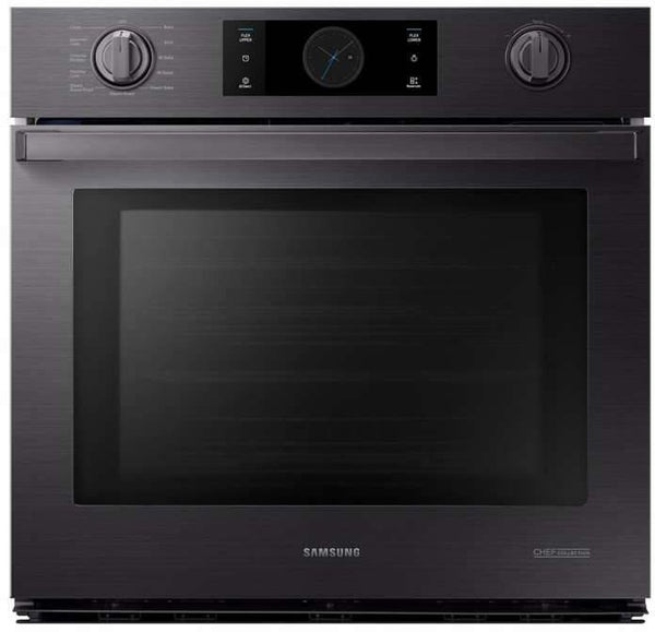 "Samsung Chef Collection 30"" Matte Black Stainless Smart Wall Oven NV51M9770SM - Alabama Appliance"