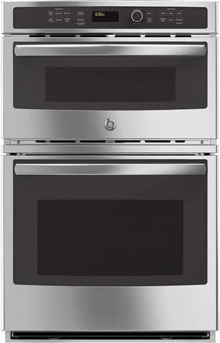 GE 27 Inch Stainless Sensor Cooking Microwave Combination Wall Oven JK3800SHSS - Alabama Appliance