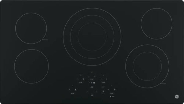 "GE 36"" 5 Radiant Elements Digital Controls Smoothtop Electric Cooktop JP5036DJBB - Alabama Appliance"