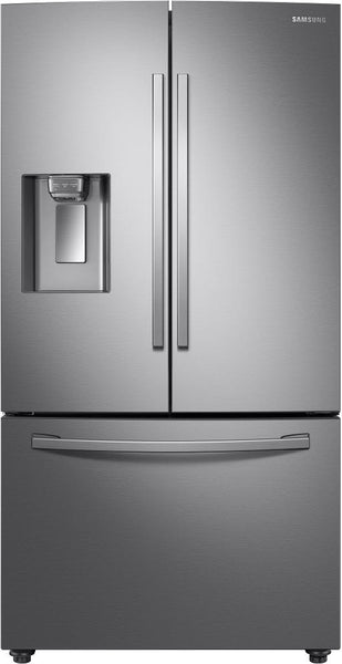 "Samsung RF28R6221SR 36"" Smart French Door Refrigerator Water/Ice D Perfect Front - Alabama Appliance"