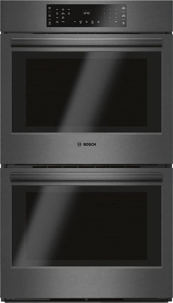 "Bosch 800 Series 30"" Black Stainless Double Electric Wall Oven HBL8642UC - Alabama Appliance"