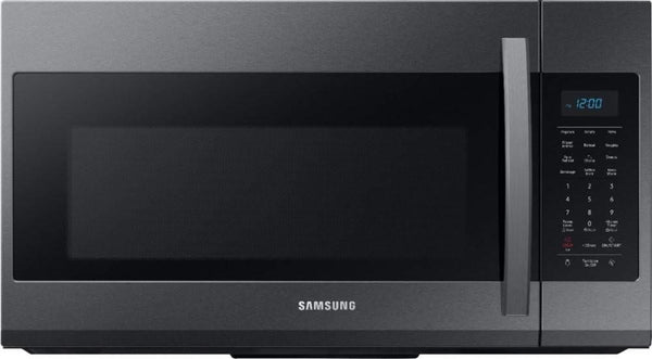 Samsung 30 Inch 1.9 Cu. Ft Black Stainless Over-The-Range Microwave ME19R7041FG - Alabama Appliance