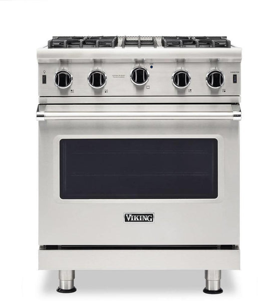 "Viking 5 Series 30"" 4 Open SureSpark Burners Stainless Gas Range VGIC53024BSS - Alabama Appliance"