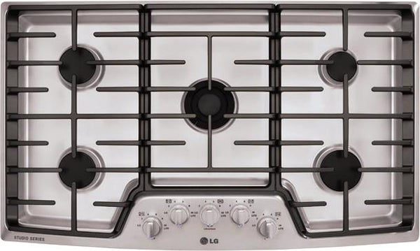 LG Studio LSCG366ST 36 Inch Gas Cooktop with 5 Sealed Burners - Alabama Appliance