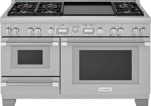 "Thermador Pro Grand 60"" Star Burner Smart Pro-Style Dual Fuel Range PRD606WCSG - Alabama Appliance"