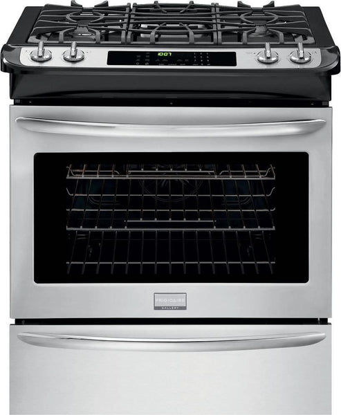 "Frigidaire Gallery Series FGGS3065PF 30"" Slide-in Gas Range with True Convection - Alabama Appliance"