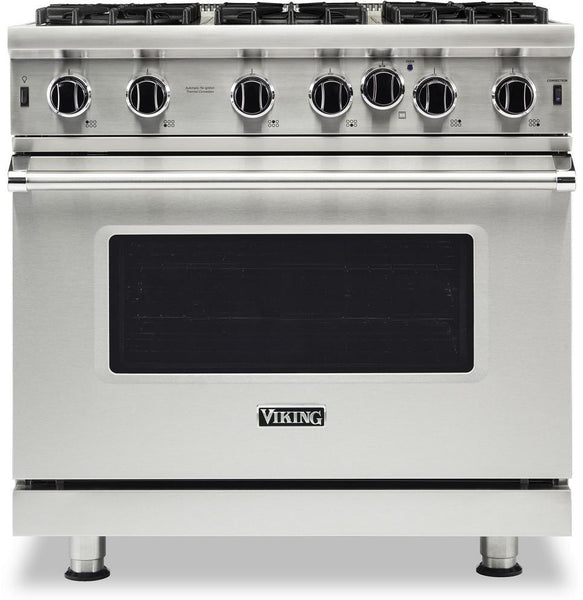 Viking 5 Series VGIC53626BSS 36 Inches Gas Range with 6 Open Burners