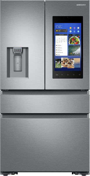 "Samsung RF23M8570SR 36"" Counter Depth 4-Door French Door Refrigerator Family Hub"