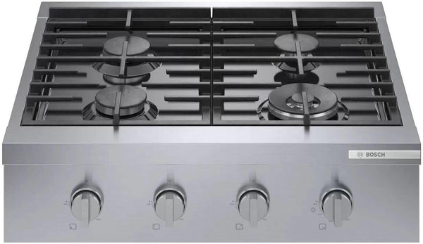 "Bosch 800 Series 30"" 4 Sealed Burners Dual Flame Burner Gas Rangetop RGM8058UC"