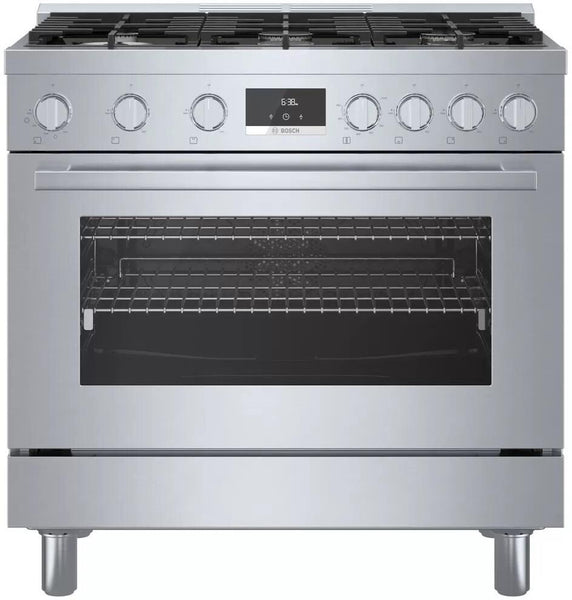Bosch 800 Series HGS8655UC 36 Inch Freestanding Gas Range with 6 Sealed Burners - Alabama Appliance